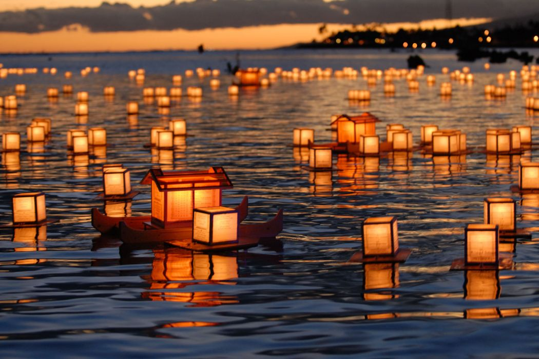 Japanese Lantern Lamp Light Asiam Oriental Bokeh G Wallpaper