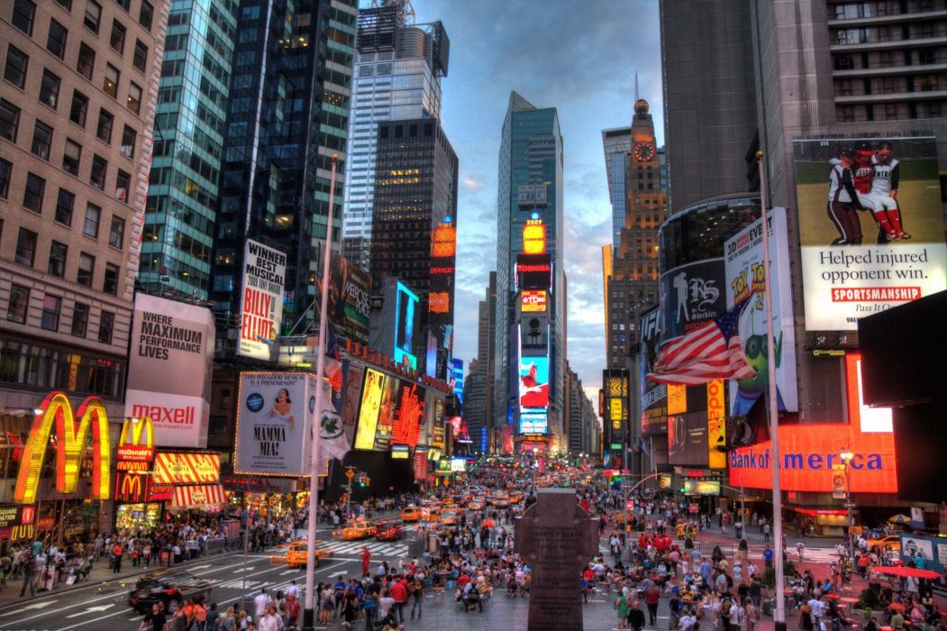 Times Square new york usa city cities neon        g wallpaper