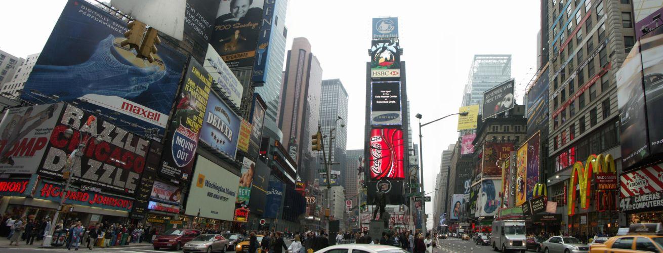 Times Square new york usa city cities neon lights traffic j wallpaper