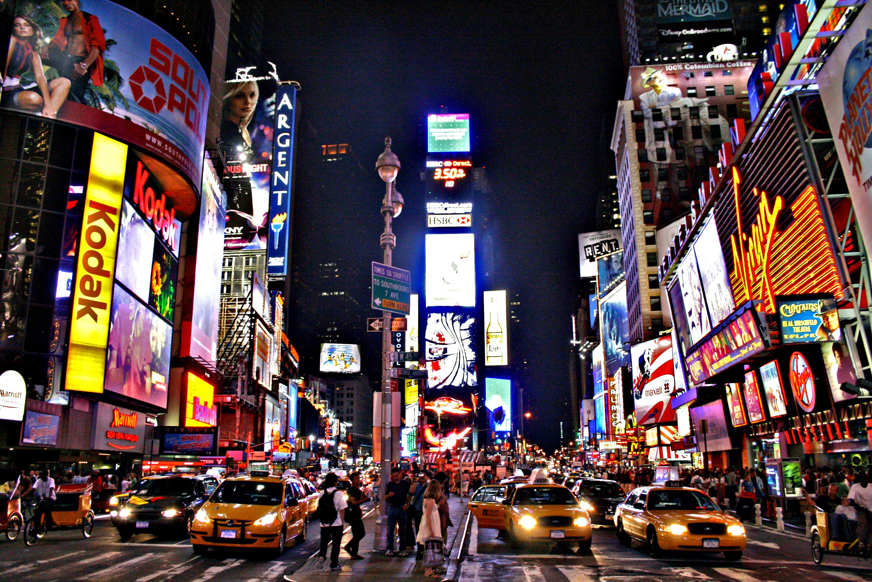City Traffic Wallpaper Times Square New York Usa City