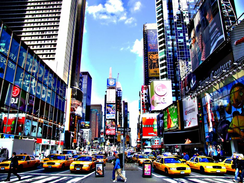 Times Square new york usa city cities traffic   g wallpaper