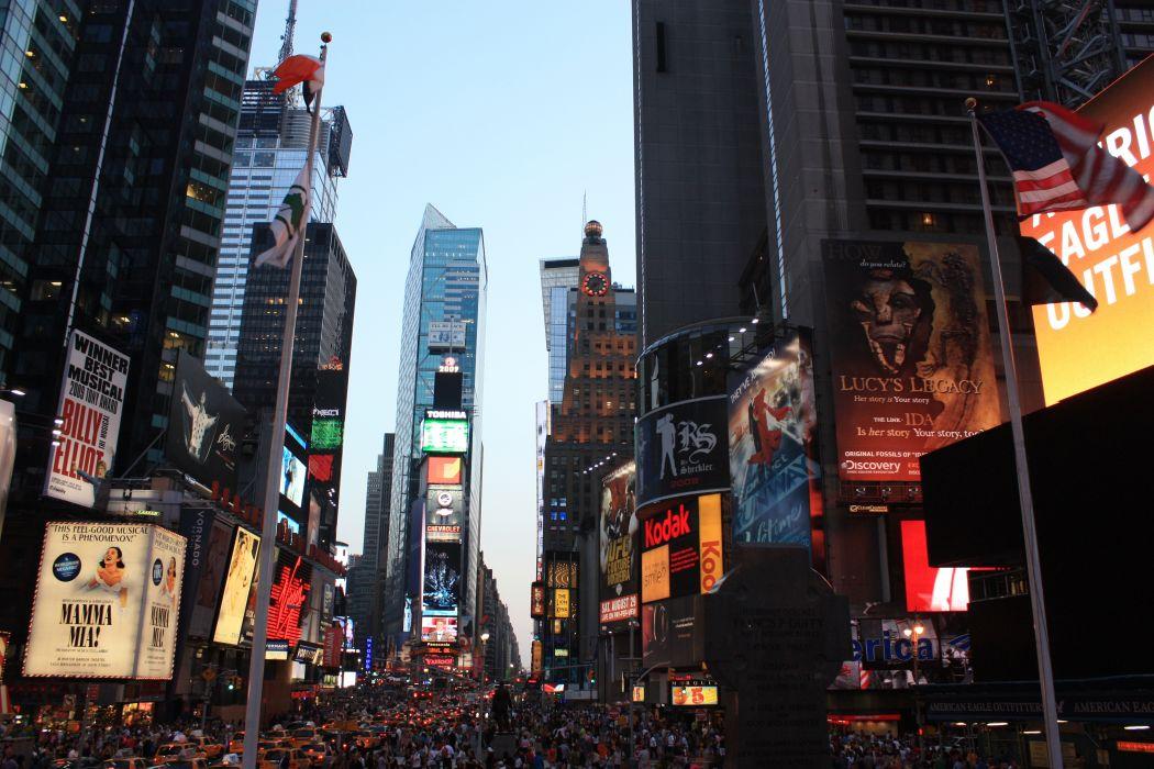 Times Square new york usa city cities traffic crowd people v_JPG wallpaper