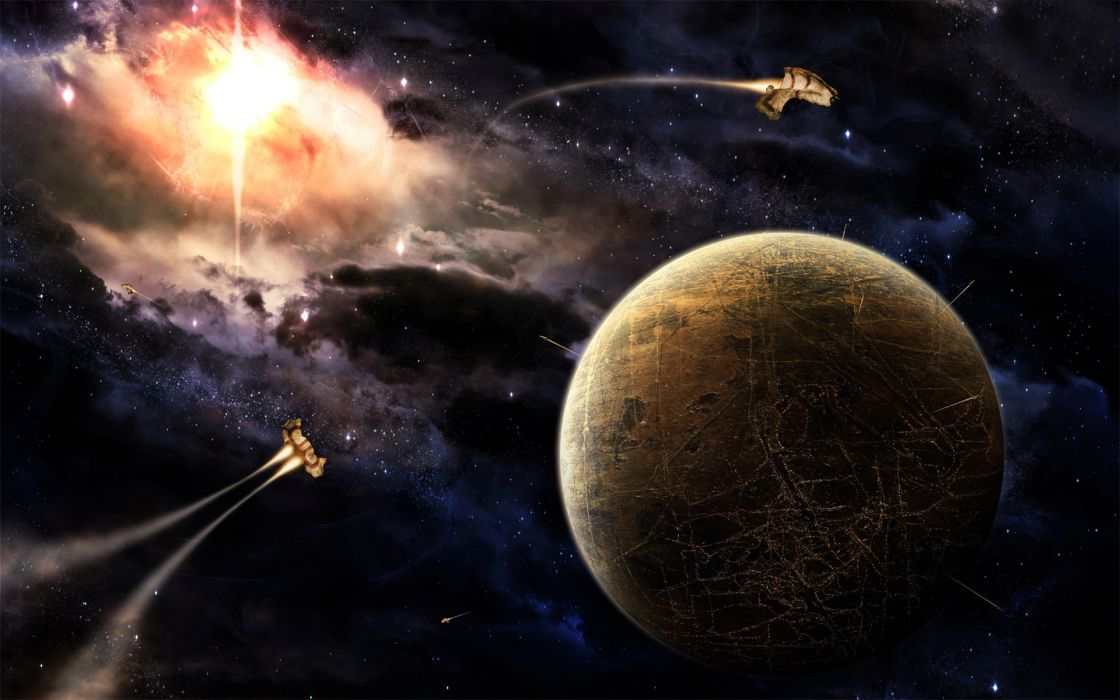 planets evolution worlds space wallpaper