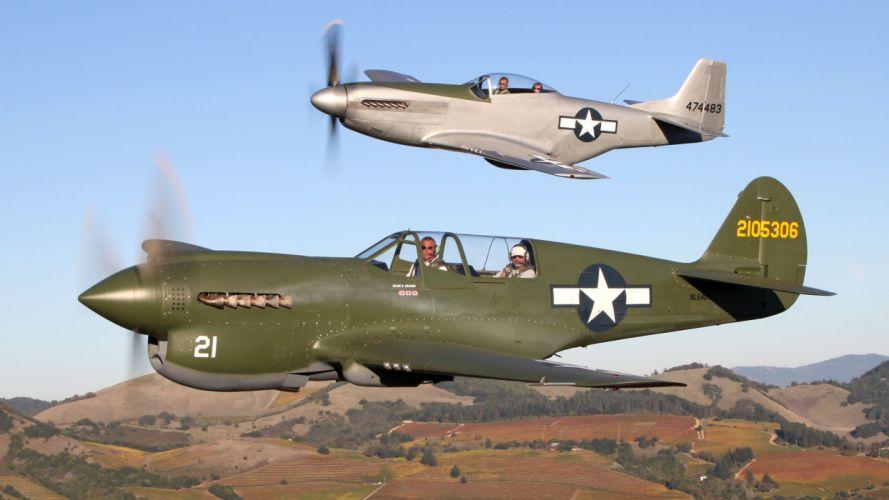airplanes Warbird Curtiss P-40 wallpaper