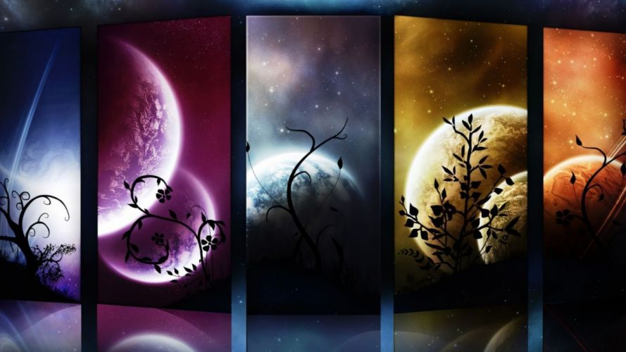 outer space planets Moon wallpaper