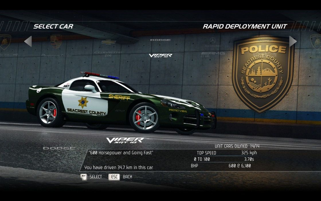 video games cars police Dodge Viper Need for Speed Hot Pursuit SRT10 pc games wallpaper