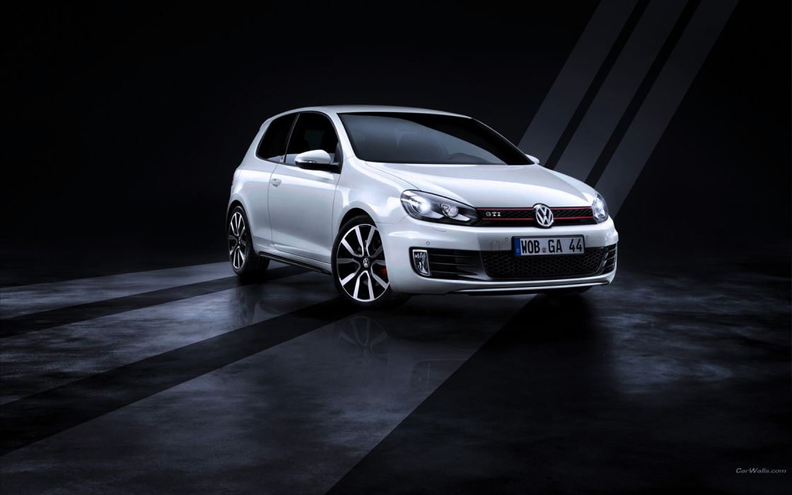 cars vehicles  Volkswagen white cars Volkswagen Golf front angle view wallpaper