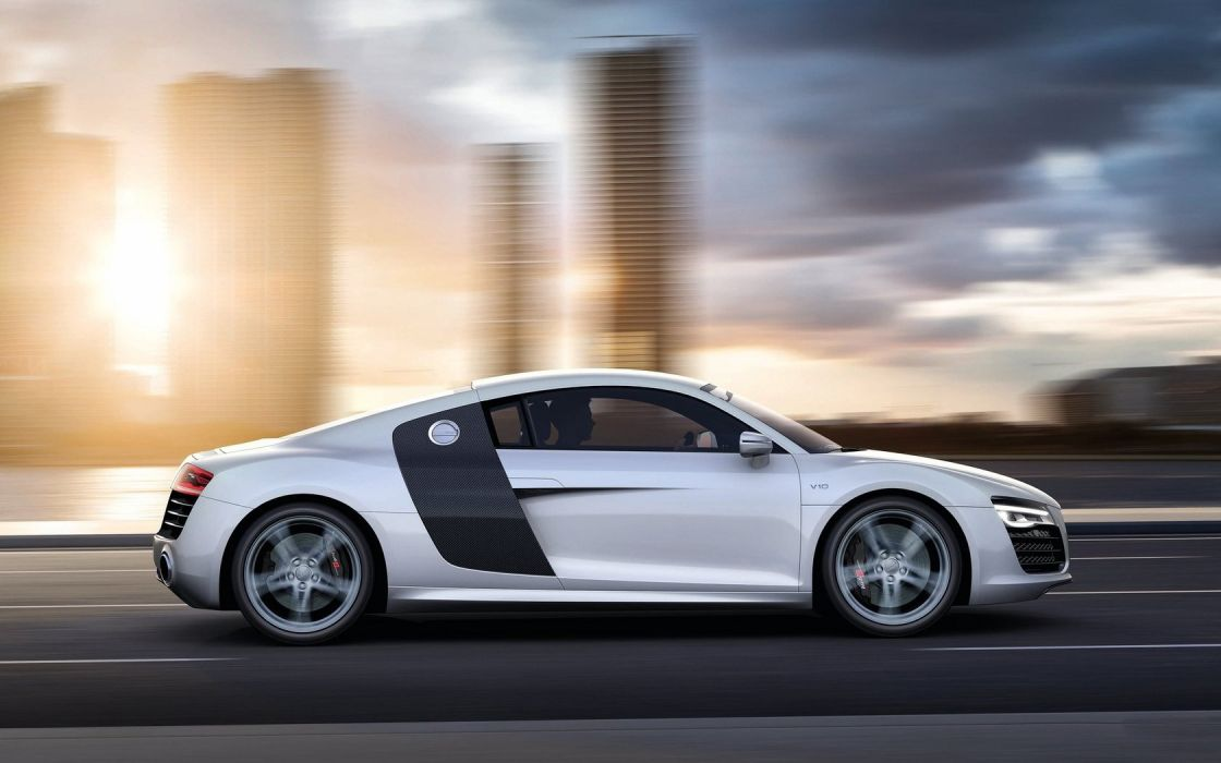 cars Audi roads Audi R8 white cars Audi R8 V10 wallpaper