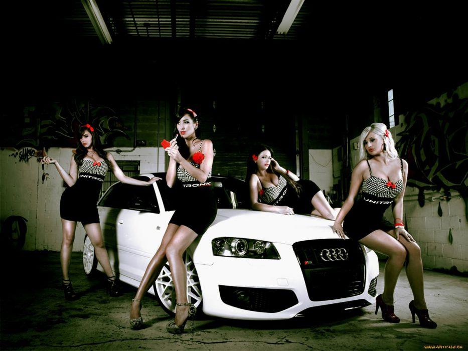 women models girls with cars wallpaper