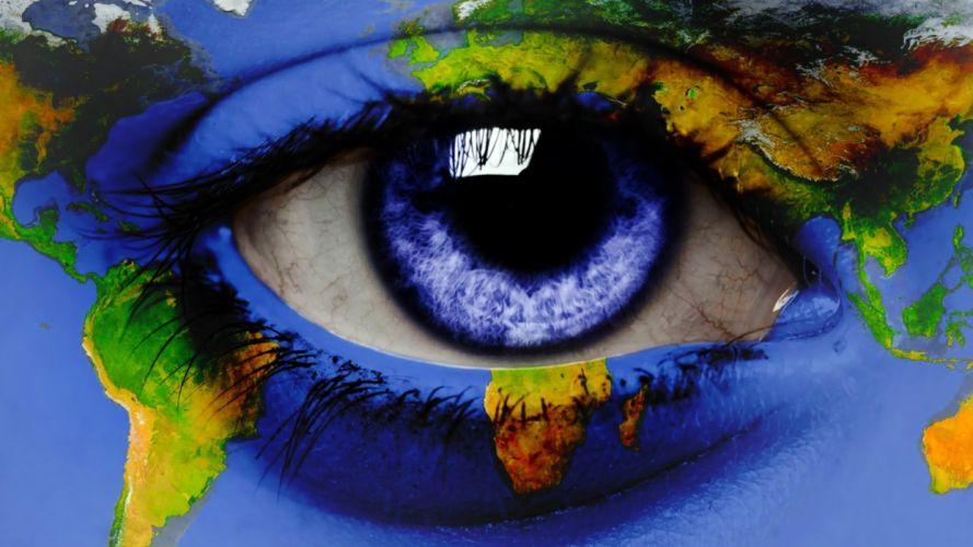 close-up eyes blue eyes world map eye wallpaper