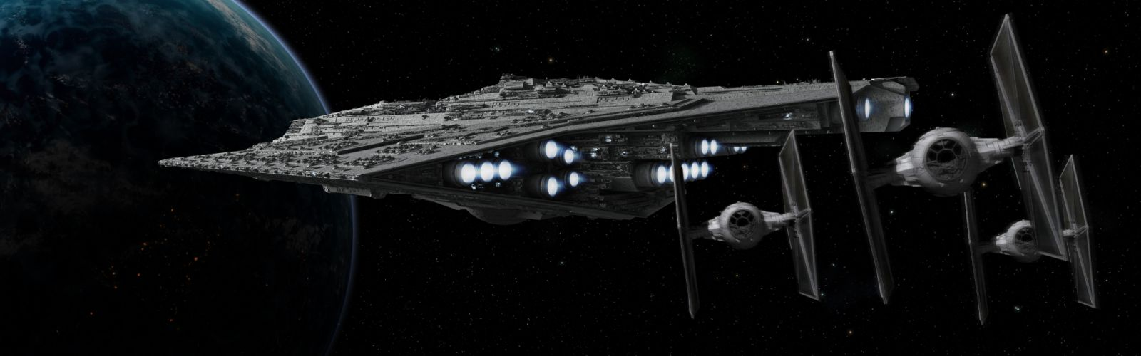 Star Wars outer space spaceships vehicles wallpaper