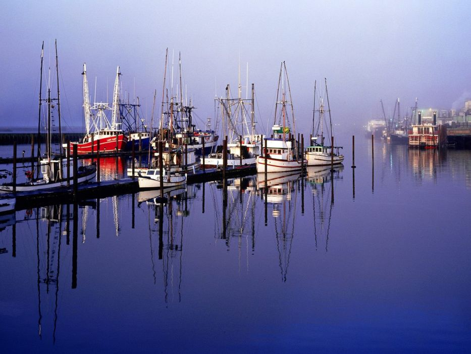 boats Oregon vehicles bay wallpaper