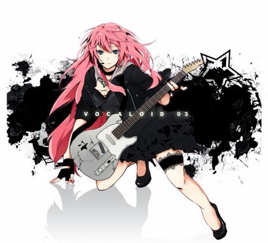 Vocaloid Megurine Luka simple background wallpaper