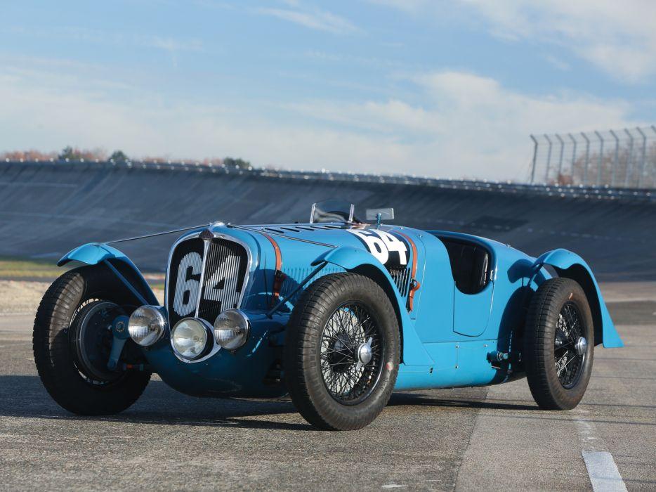 1936 Delahaye 135 retro race racing wheel      f wallpaper