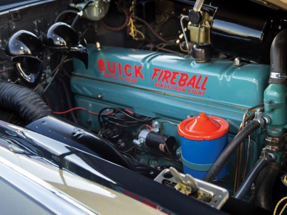1949 Buick Roadmaster Riviera (76R) retro engine       g wallpaper