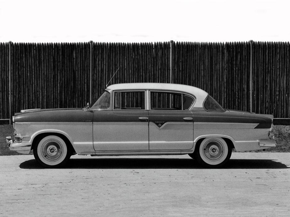 1956 Hudson Hornet Custom Sedan (35685-2) retro     f wallpaper