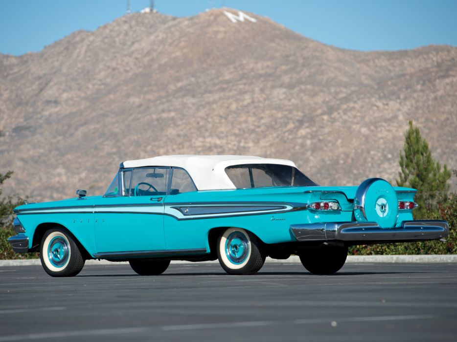 1959 Edsel Corsair 2-door Convertible 76E retro d wallpaper