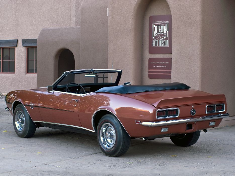 1968 Chevrolet Camaro S-S 350 Convertible (2467) muscle classic  g wallpaper