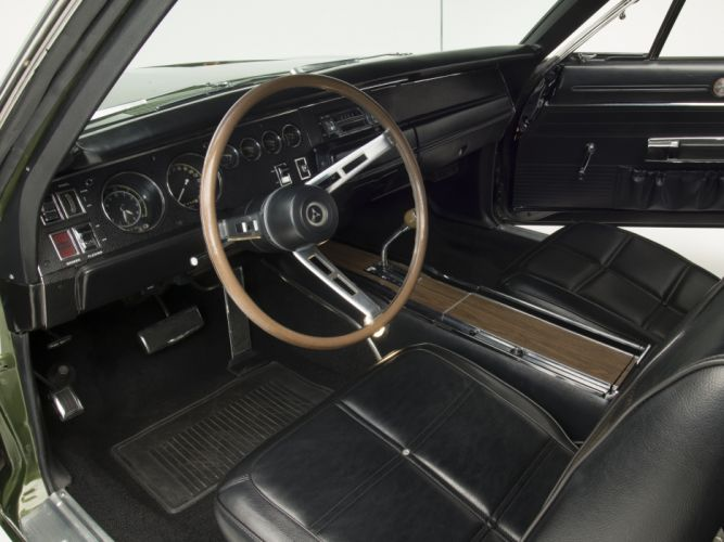 1969 Dodge Charger 500 Hemi (XX29) muscle classic interior f wallpaper