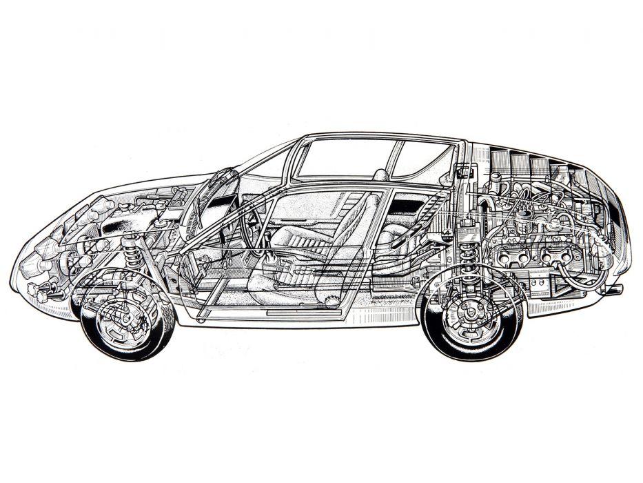 1971 Renault Alpine A310 supercar classic interior engine     c wallpaper
