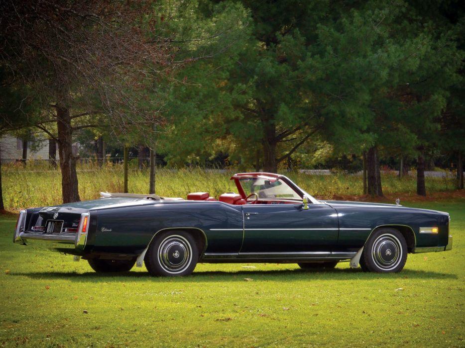 1976 Cadillac Fleetwood Eldorado Convertible (L67) luxury classic  g wallpaper