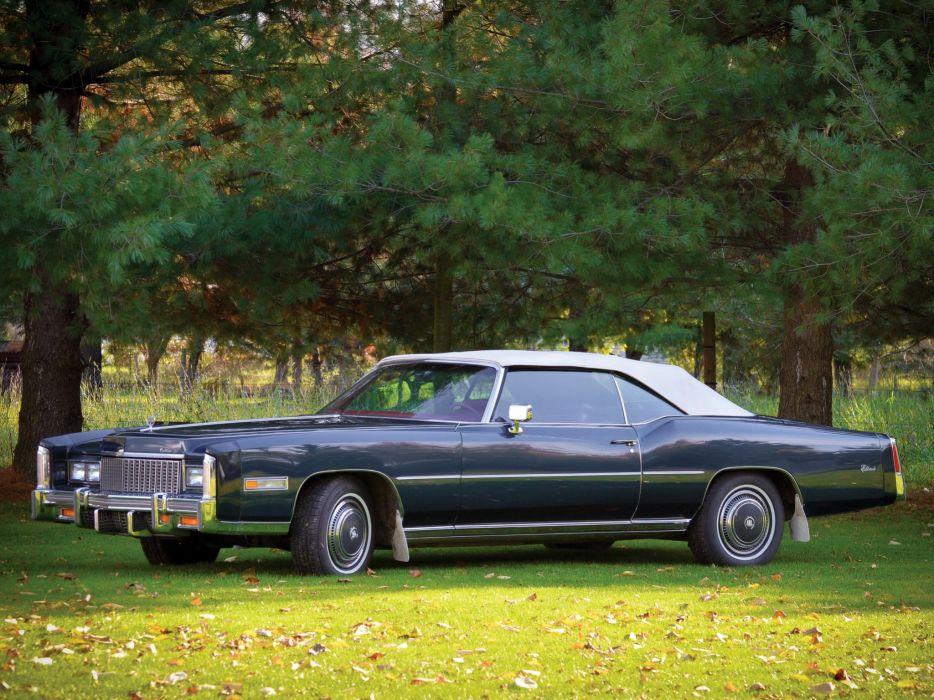 1976 Cadillac Fleetwood Eldorado Convertible (L67) luxury classic  h wallpaper