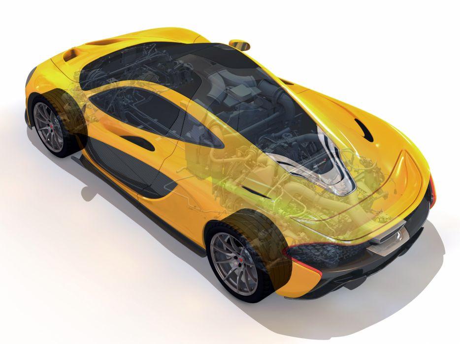 2013 McLaren P-1 supercar interior engine      h wallpaper