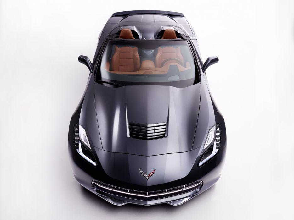 2014 Chevrolet Corvette Stingray Convertible (C-7) muscle supercar  h wallpaper