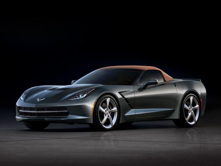 2014 Chevrolet Corvette Stingray Convertible (C-7) muscle supercar  ts wallpaper