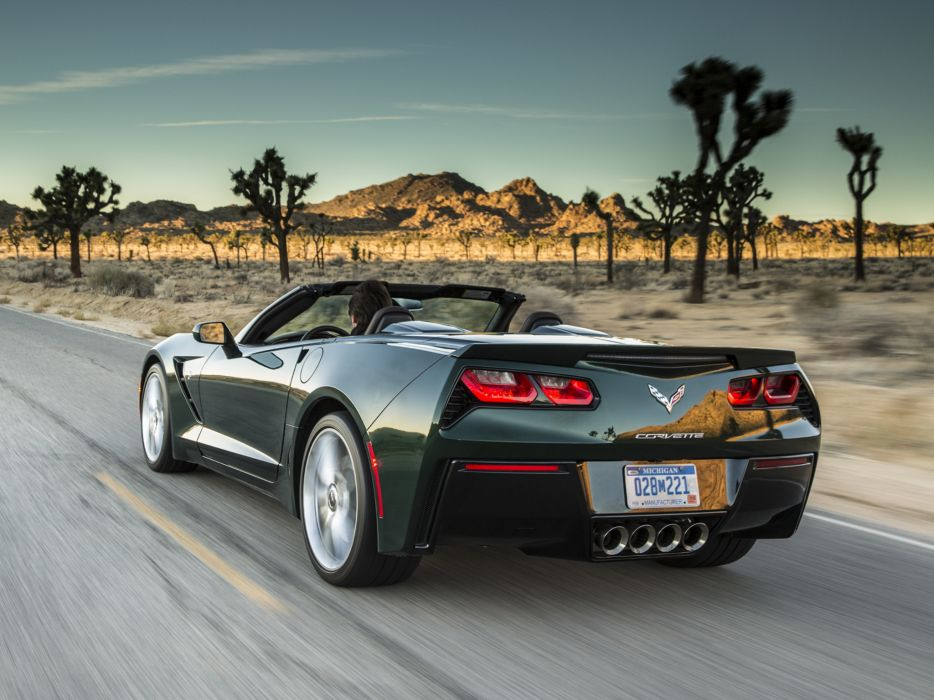 2014 Chevrolet Corvette Stingray Convertible (C-7) muscle supercar  te wallpaper
