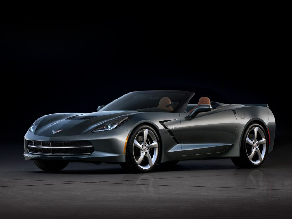 2014 Chevrolet Corvette Stingray Convertible (C-7) muscle supercar   r wallpaper