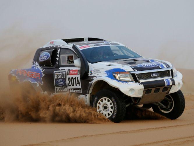 2014 Ford Ranger Dakar Rally offroad pickup 4x4 race racing g wallpaper