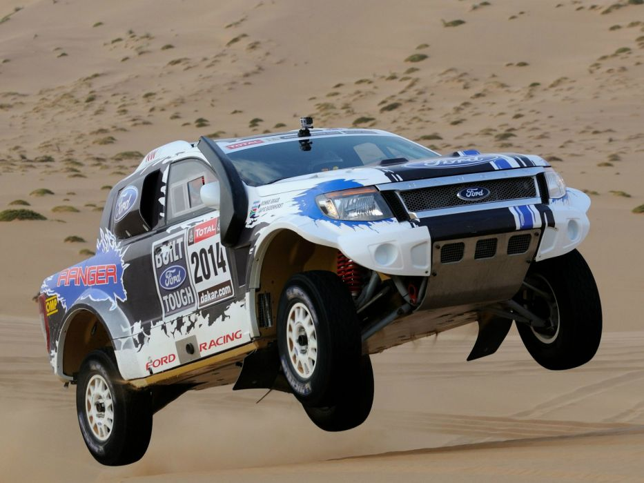 2014 Ford Ranger Dakar Rally offroad pickup race racing       f wallpaper