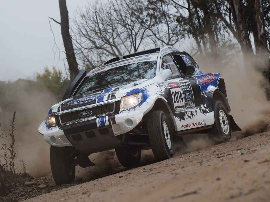 2014 Ford Ranger Dakar Rally offroad pickup race racing    f wallpaper