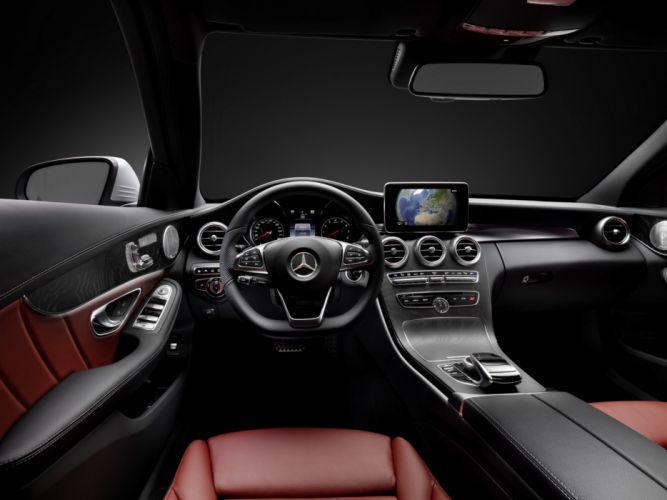 2014 Mercedes Benz C250 AMG Line (W205) luxury interior f wallpaper