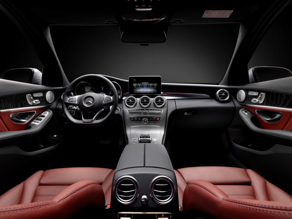 2014 Mercedes Benz C250 AMG Line (W205) luxury interior g wallpaper