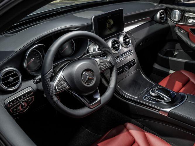 2014 Mercedes Benz C250 AMG Line (W205) luxury interior t wallpaper