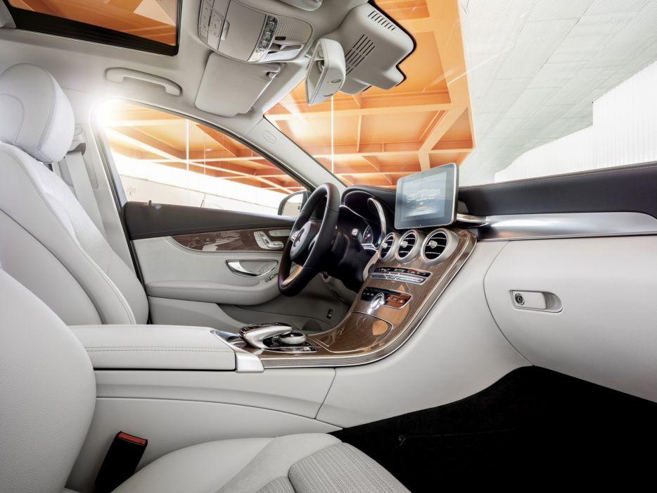 2014 Mercedes Benz C300 BlueTec Hybrid Exclusive-Line (W205) luxury interior  f wallpaper