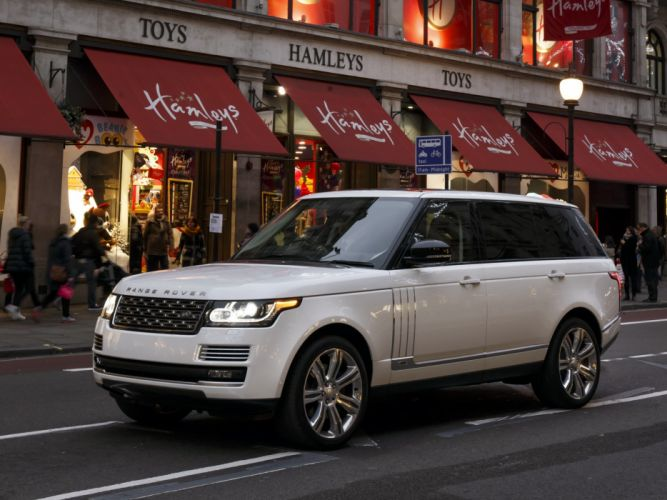 2014 Range Rover Autobiography Black LWB UK-spec (L405) suv f wallpaper