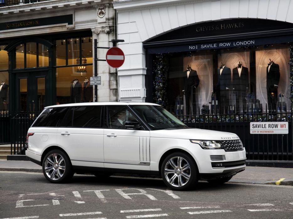 2014 Range Rover Autobiography Black LWB UK-spec (L405) suv  f wallpaper