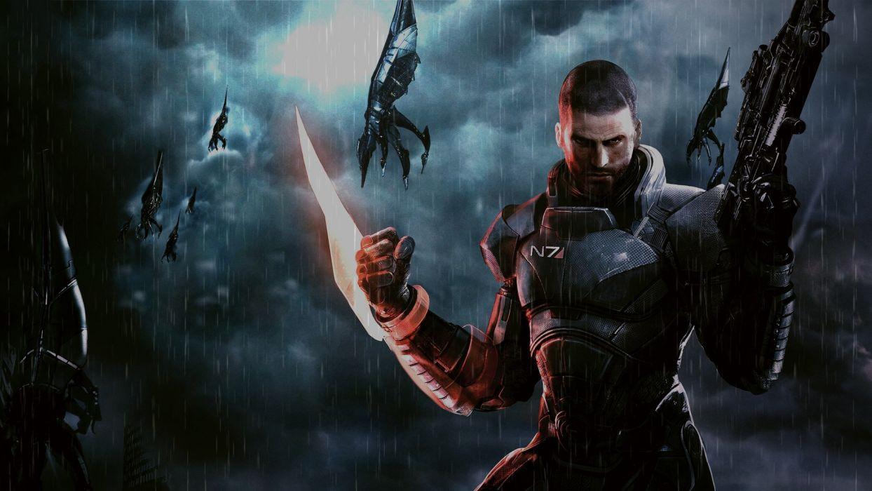 rain Mass Effect Mass Effect 3 reapers wallpaper