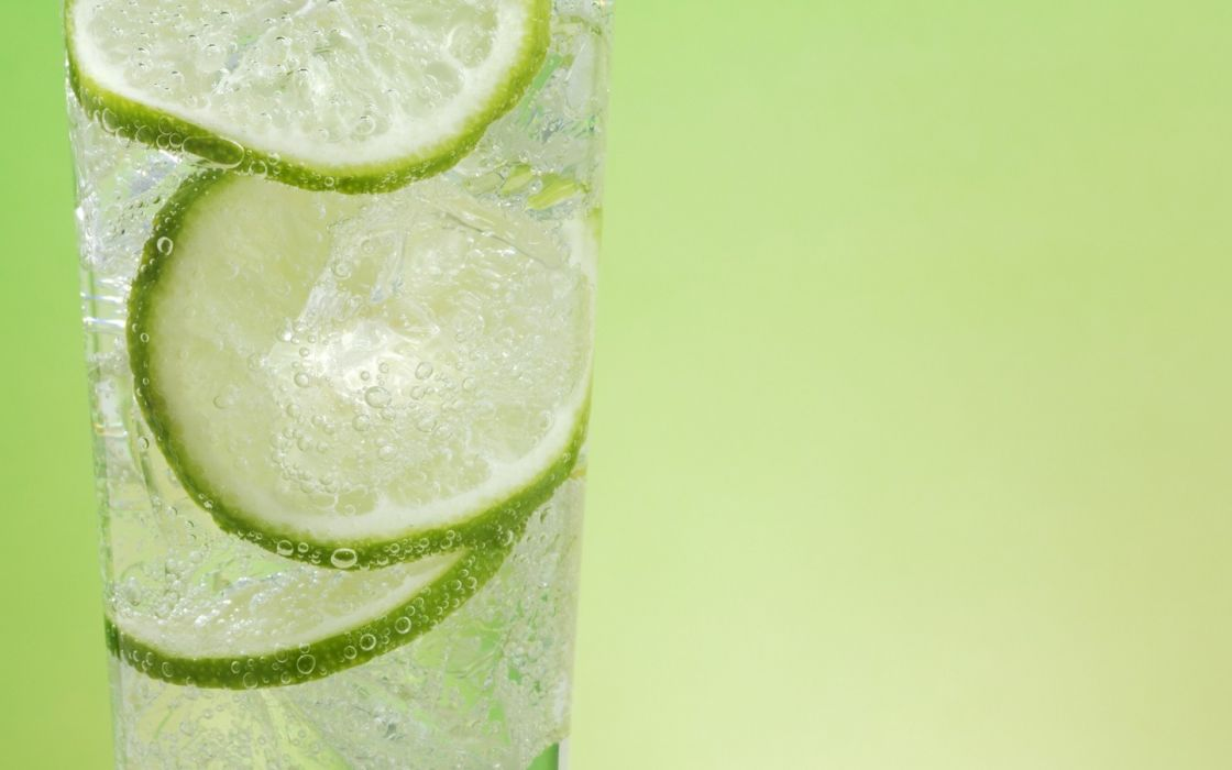 green fruits limes cocktail drinks simple background green background wallpaper
