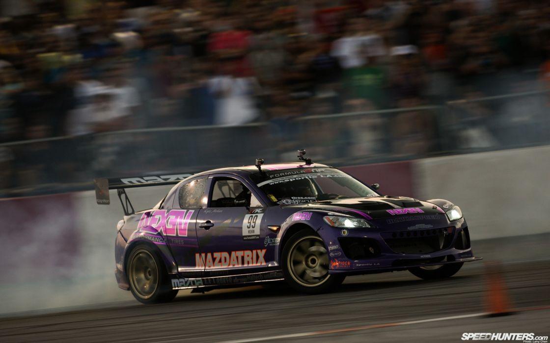 cars drifting cars racer Mazda RX-8 racing drifting wallpaper