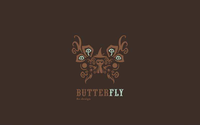 brown butterflies wallpaper