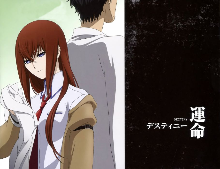 anime anime boys Steins;Gate Makise Kurisu anime girls scans Steins;Gate: Fuka Ryouiki no DAIA wallpaper