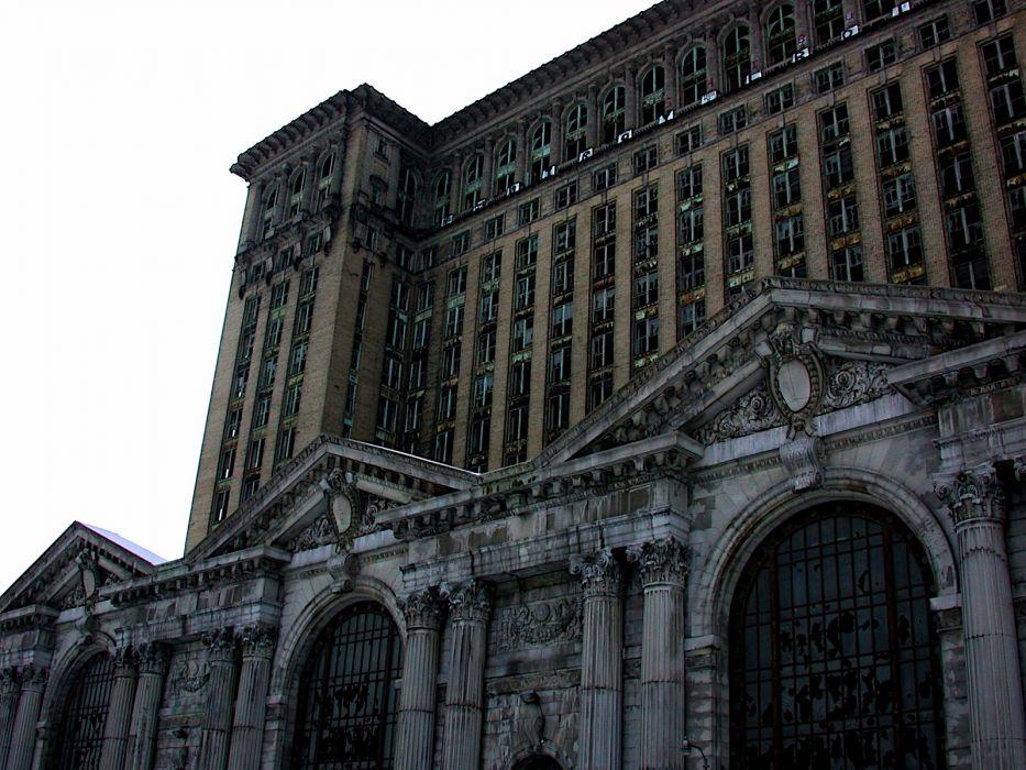 Detroit train stations Michigan Central Station wallpaper
