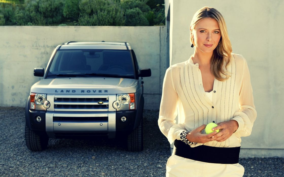 women cars Maria Sharapova Land Rover tennis balls Tennis Player wallpaper