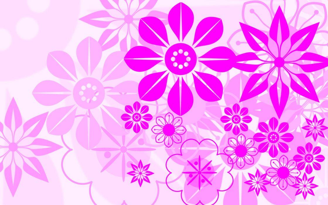 white flowers pink wallpaper