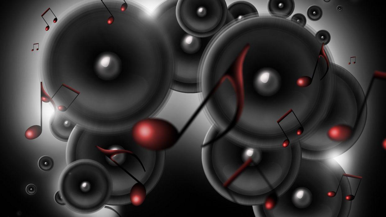music speakers sound digital art wallpaper