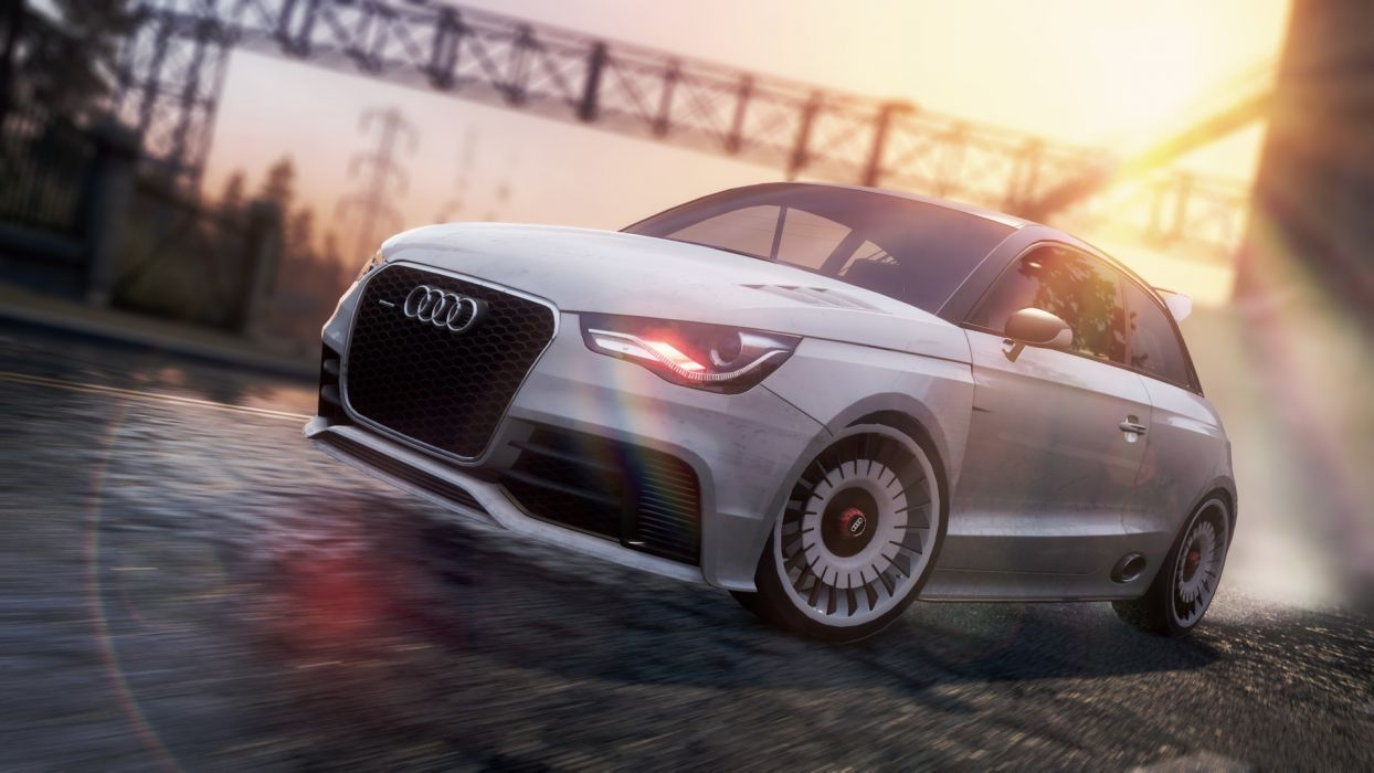 video games cars Audi A1 Audi A1 Clubsport Quattro Need for Speed Most Wanted 2 wallpaper